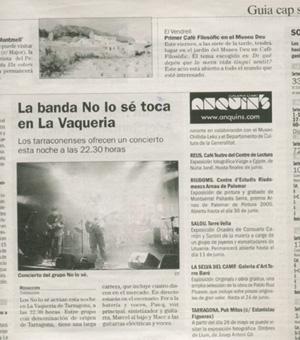 NOLOSE! hoy en La vaqueria de Tarragona