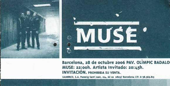 MUSE EN BARCELONA