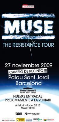 ¡MUSE El Resistence Tour CAMBIA DE RECINTO!