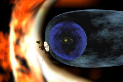 Un par de naves espaciales se marchan del sistema solar