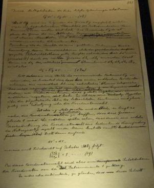 TEORIA DE LA RELATIVIDAD el manuscrito original